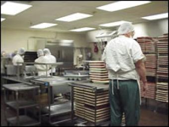 Jail kitchen.