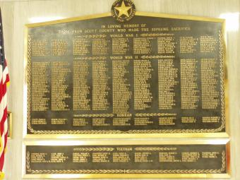The Gold Star Memorial at Scott County.