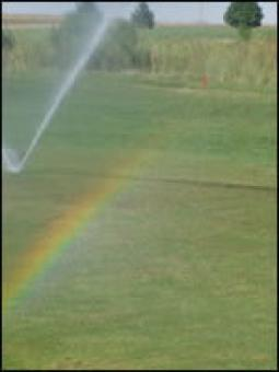 A rainbow on the course.