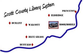This is a picture of the Scott County Library System Service Area