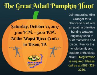 The Great Atlatl Pumpkin Hunt poster.