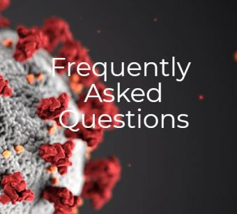 Frequently Asked Questions title with virus image