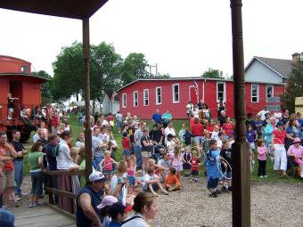 photo of people attending heritage days in the past