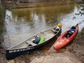 Pciture of kayak and canoe