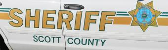Picture of Scott County Sheriff's Office squad car door