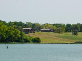 Summit Cabins overlooking Railroad Lake.