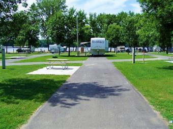 Open Campsite at Buffalo Shores Campground.