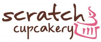 Logo for Scratch Cupcakery cupcake shop