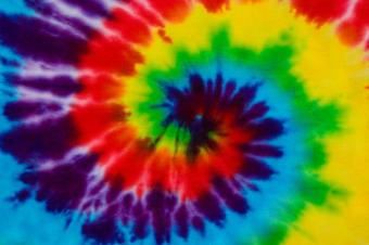 Close up of tie-dyed shirt