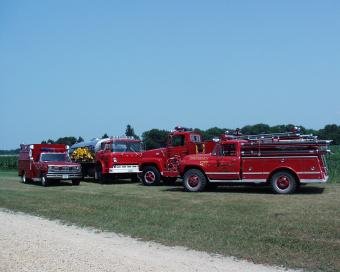 McCausland Fire Department fire trucks