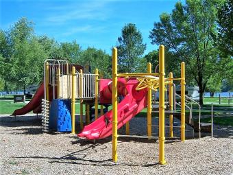Playground at the campground.