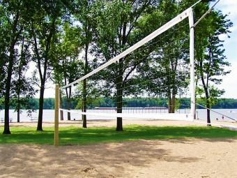 Sand volleyball court at Buffalo Beach.