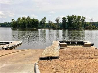Double boat ramp at Buffalo Shores.