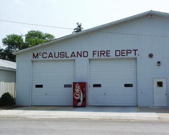 McCausland Fire Department building.