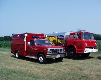 Mccausland tanker and rescue trucks.