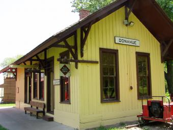The Donahue Train Depot.