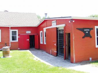 Exterior view of the blacksmith shop.