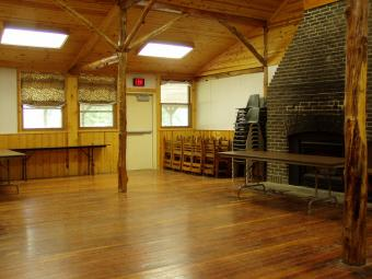 Inside view of Redtail Lodge.