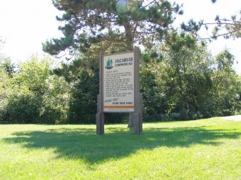 Incahias Campground welcome sign.