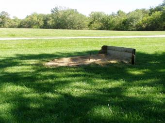 Horeshoe courts at Incahias Campground.