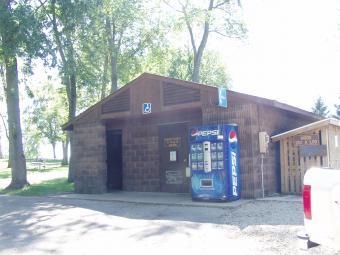 Restrooms at Incahias Campground.