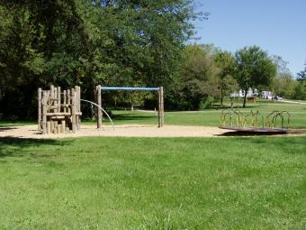 Playground area next to Wilderness Campground.