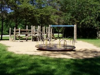 Another view of the playground area next to Wilderness Campground.