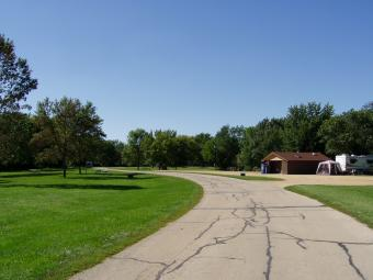 Entrance drive to Sac-Fox Campground.