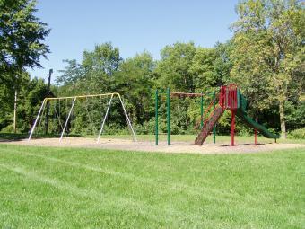 The playground area next to Sac-Fox Campground.