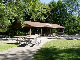 Inidian Hills picnic shelter.