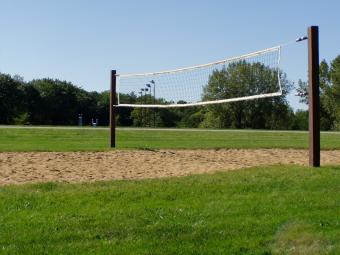 Sand volleyball court located near the shelter.