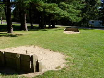 A horseshoe court at the campground.