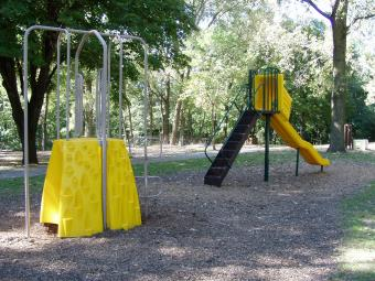 Playground equipment at the campground