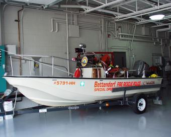 Bettendorf river rescue boat.