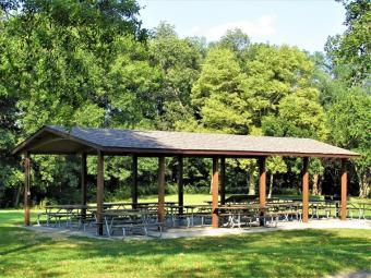 Hickory Hills picnic shelter.