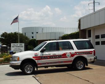 Bettendorf station and incident command vehicle.