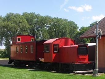 Train at pioneer village.