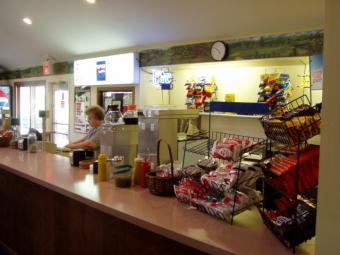 Concession area at the clubhouse.