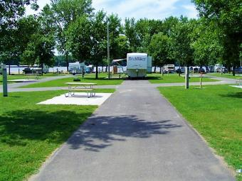 Open campsite at Buffalo Shores.