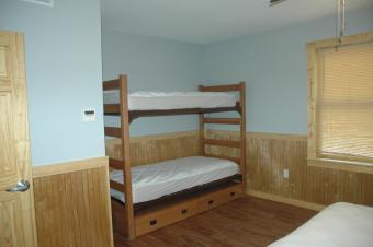 Bunk beds in Kestrel cabin.