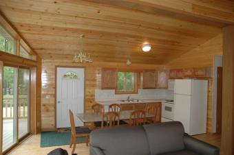 Pine Grove Cabin living room.