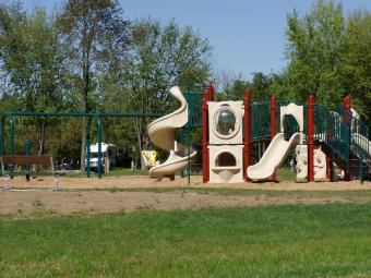 The playground at Bald Eagle Campground.