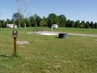 A paved site at Bald Eagle Campground.