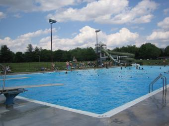 A view of Scott County Park Pool.