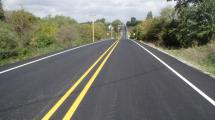 Picture of 100th Avenue finished resurfacing project.