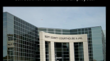 "Image of the county courthouse entrance with words ""Thank You Correctional Officers and Employees""."