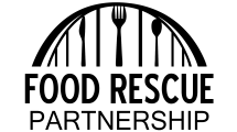 logo with Davenport's Centennial Bridge, silverware and words Food Rescue Partnership