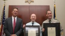 The Sheriff with Lieutenant Joe Caffery and Deputy Dan Grafton.