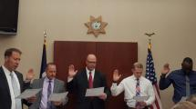 Swearing in ceremony of new deputies.