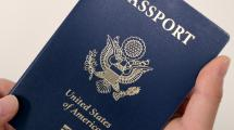 Holding a US Passport.
